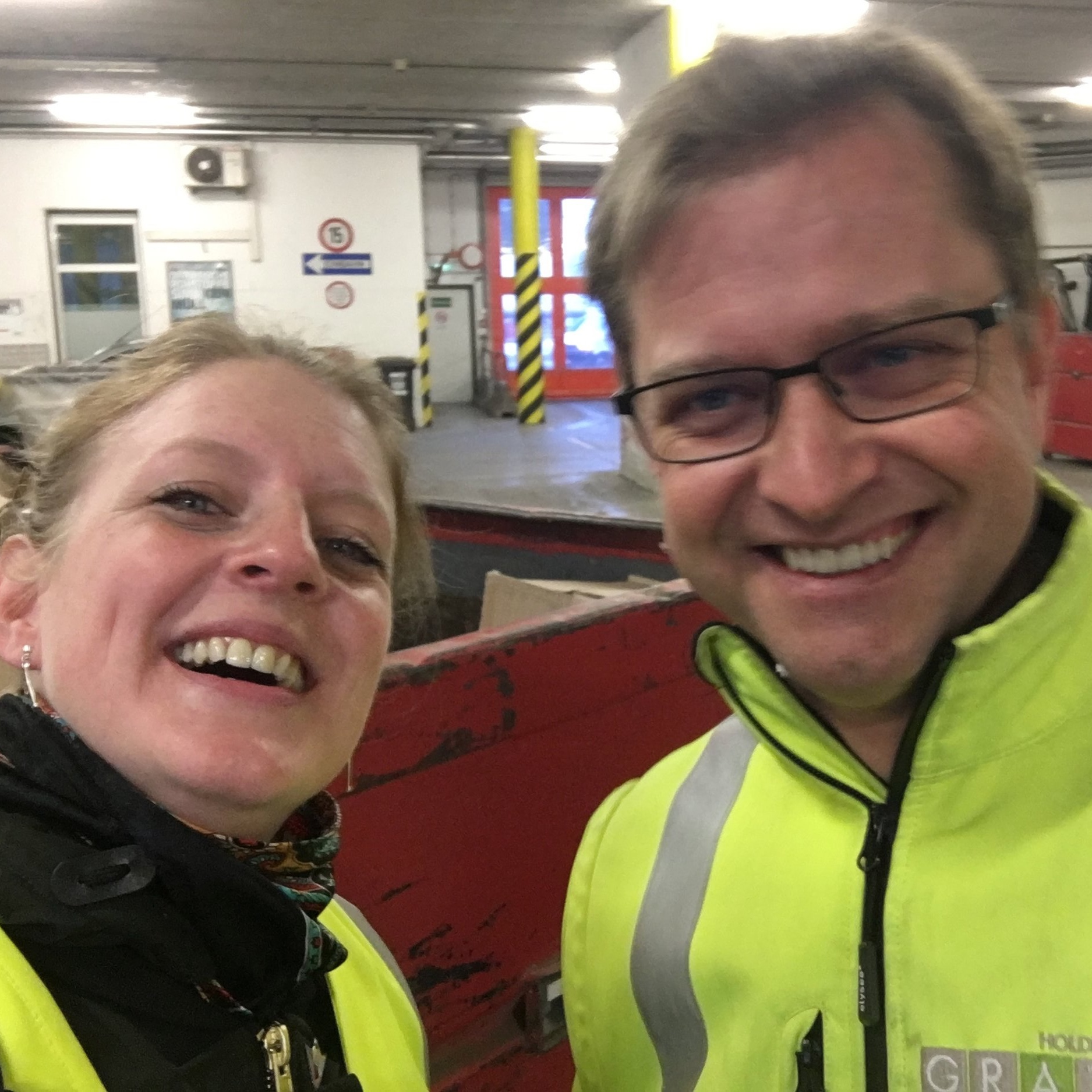 Evelina and Jochen Pach, head of projects and material flow management at Holding Graz Waste Management. Photo: The Good Tribe