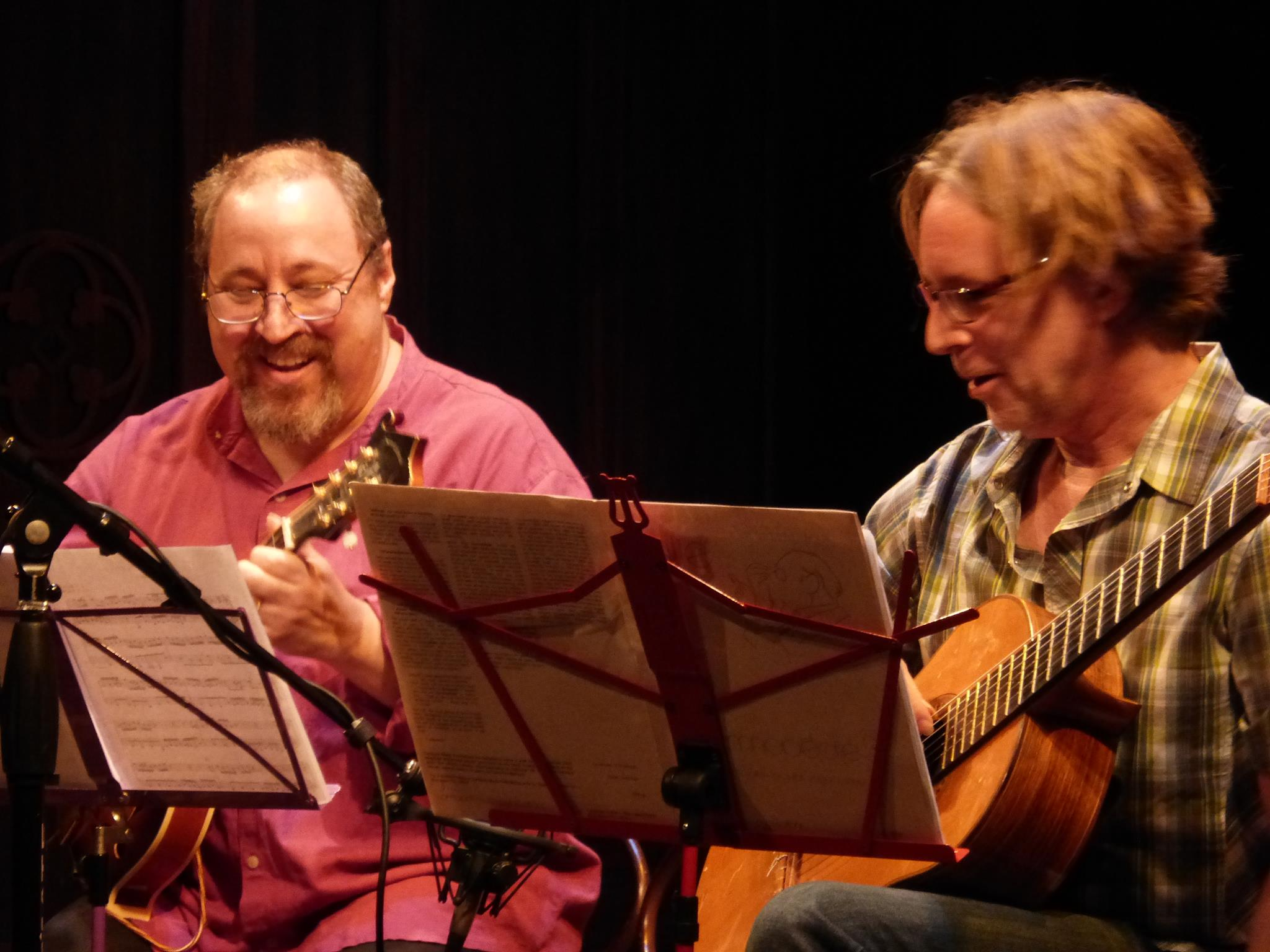 With Christopher Colucci playing classical music (!) for a concert at the Peoples Light and Theatre Company in Malvern, PA. August 2014.
