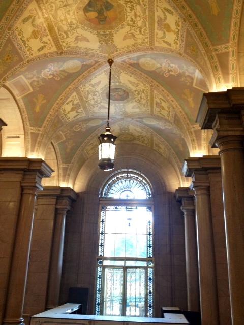 The beautiful foyer restored