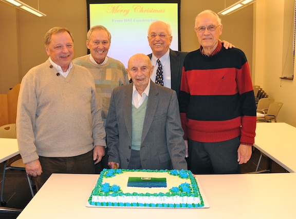 From left: The original BSI crew, Carl Cooper, Lorry Bannes, Sherwood Hughes, Joe Shaughnessy, and Bernie Duda