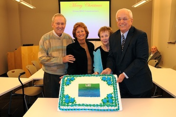 From left: Lorry Bannes with wife, Debbie Bannes and Rosemary Shaughnessy, wife of Joe Shaughnessy