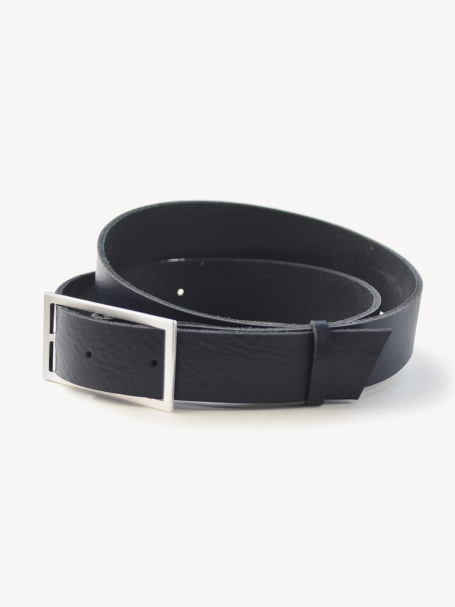 Leder-Gürtel, breit in schwarz  Leather belt, medium in black