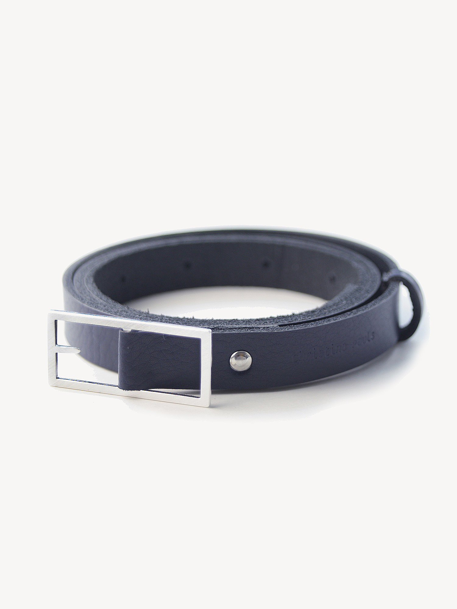 Leder-Gürtel, mittel in dunkelblau  Leather belt, medium in navy