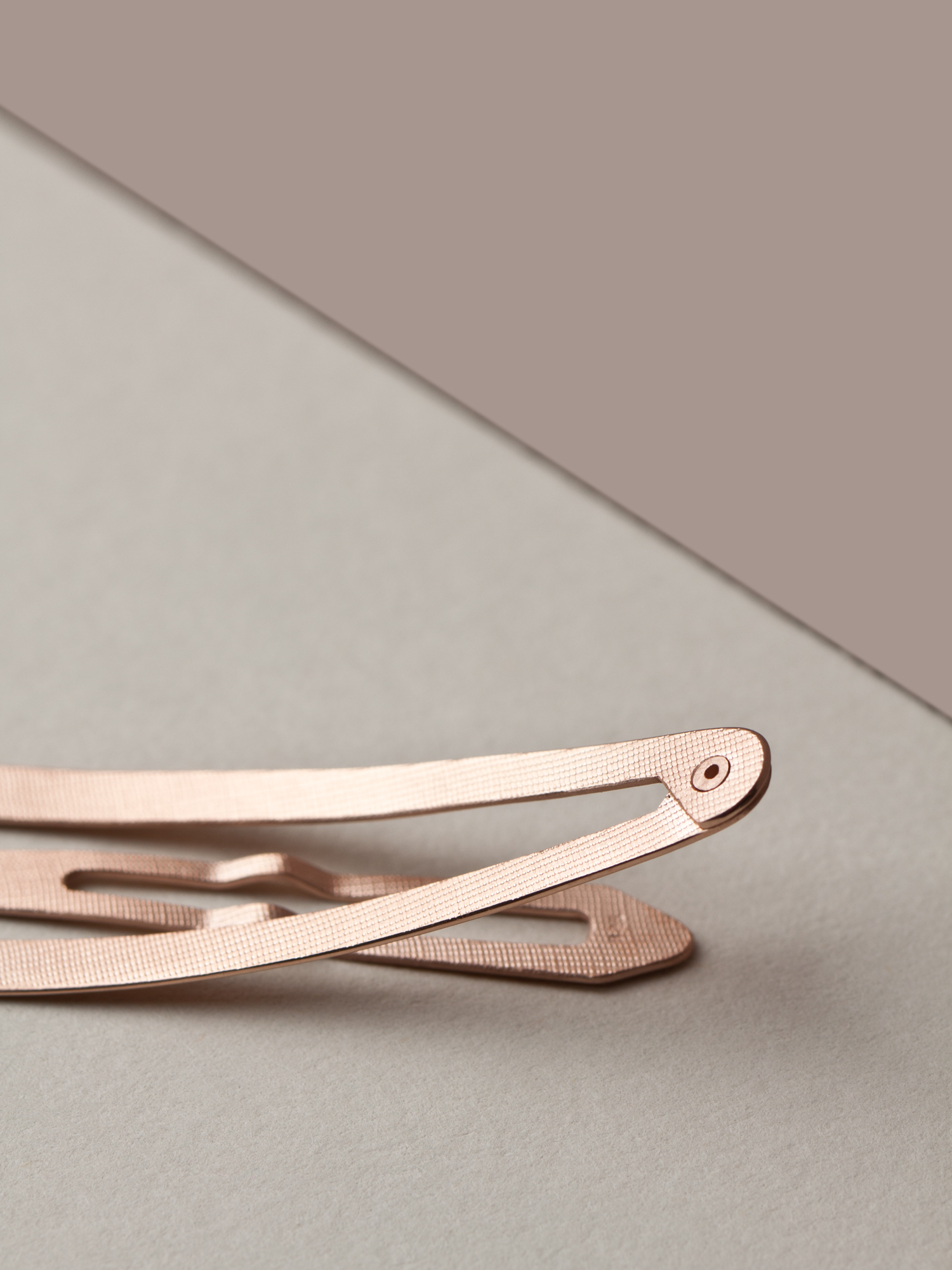 Haarspange in 585 Rosegold  Hairclip in 14ct Rosegold