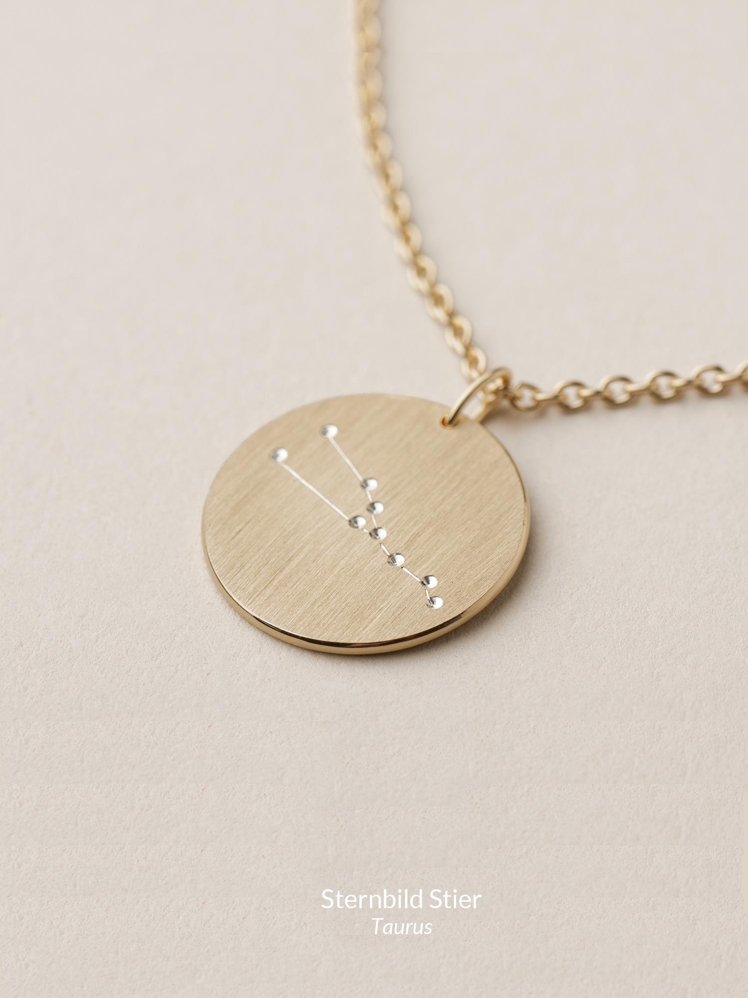 Sternbild Anhänger Stier in 585 Gold  Zodiac sign pendant Taurus in 14ct gold