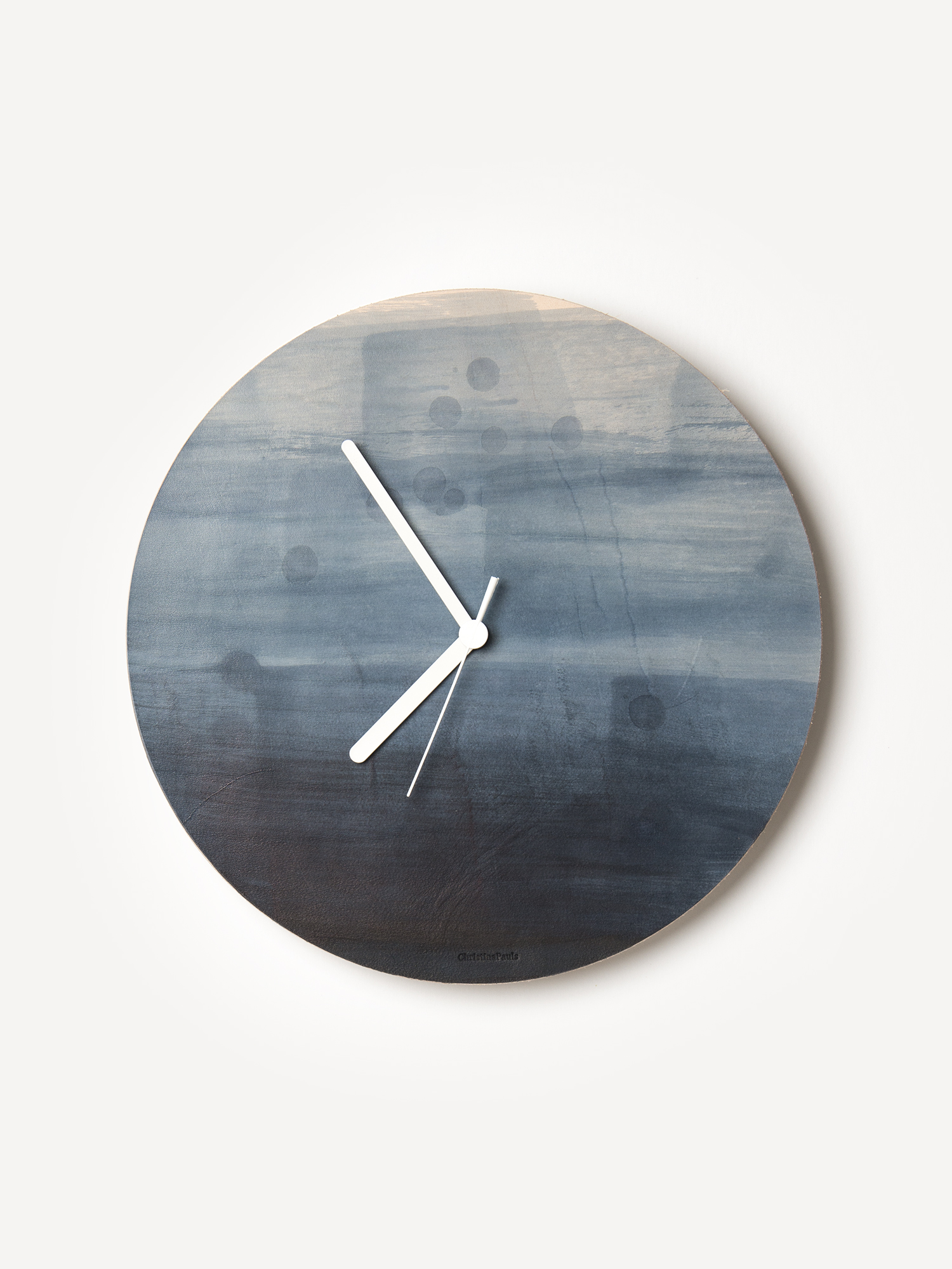 Leder-Wanduhr Ino  Leather wall clock Ino