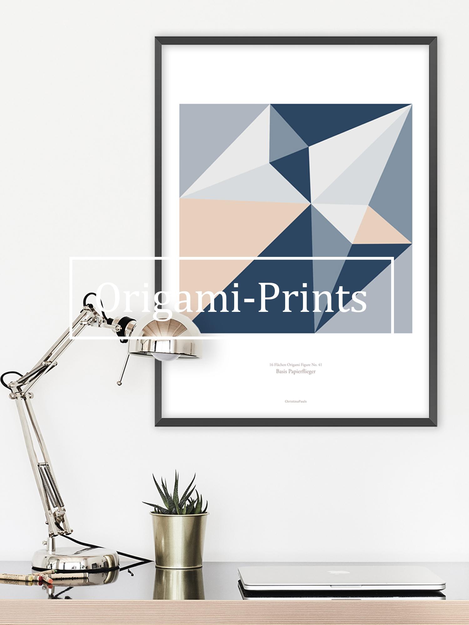 Christina-Pauls-Origami-Poster-Kunstdruck-Papier-mehrfarbig-Düsenflieger.jpg