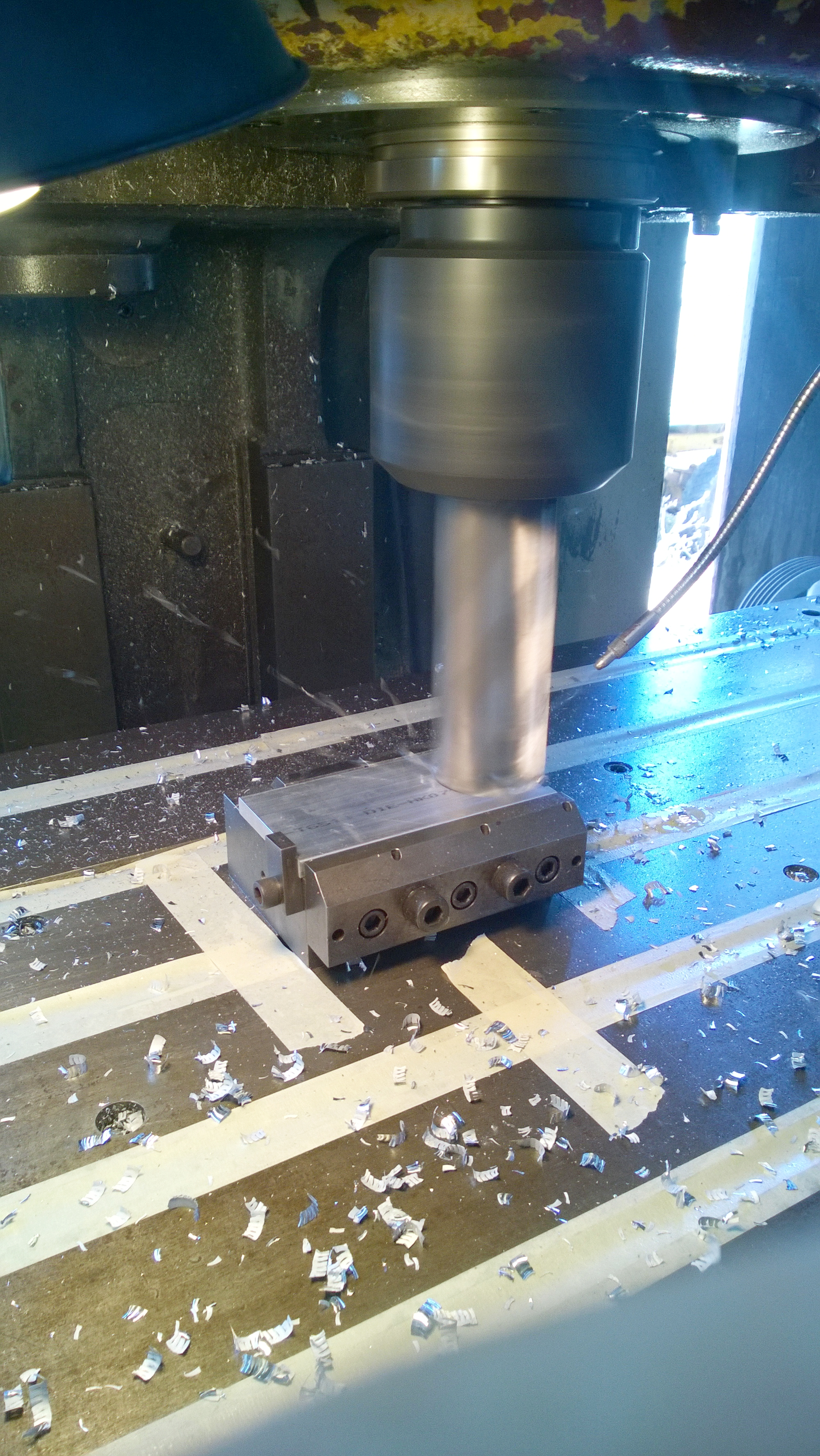 Machining the hang brackets