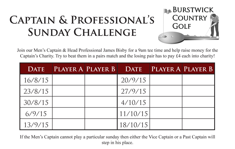 Captain and Pros Challenge
