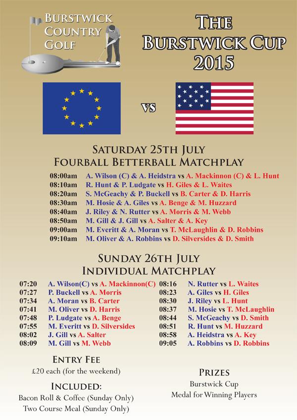 Burstwick Cup Fixtures