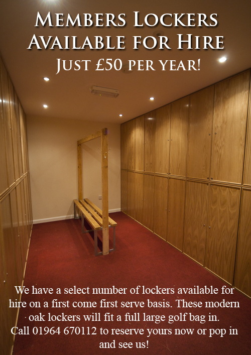 Lockers available for hire