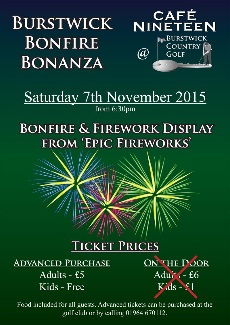 Burstwick Bonfire Bonanza