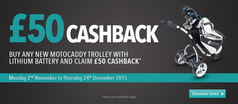 Motocaddy Lithium Cashback