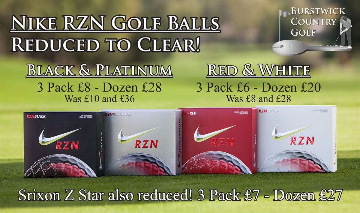 Nike RZN golf balls reduced