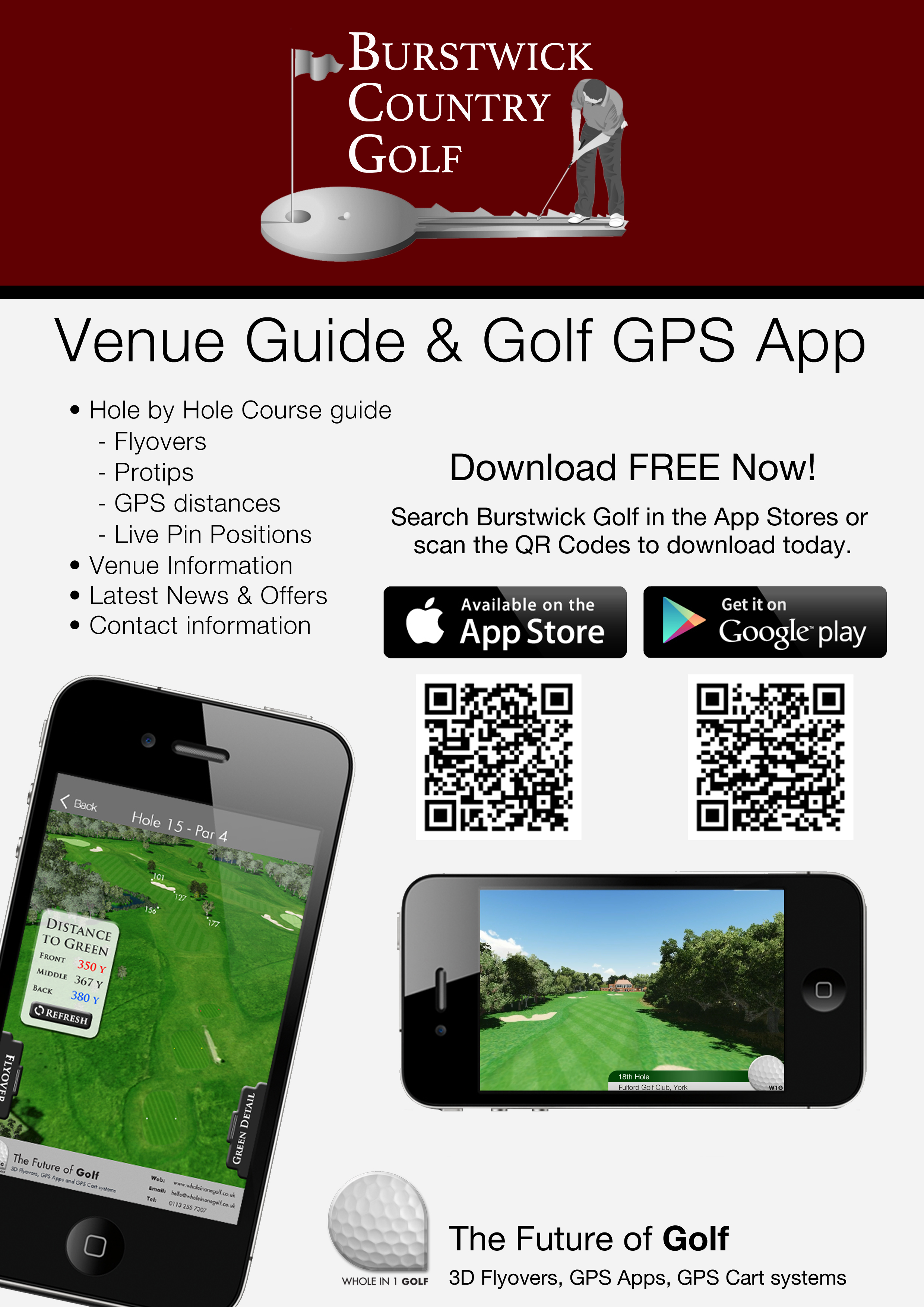 Golf App with 3D Flyovers