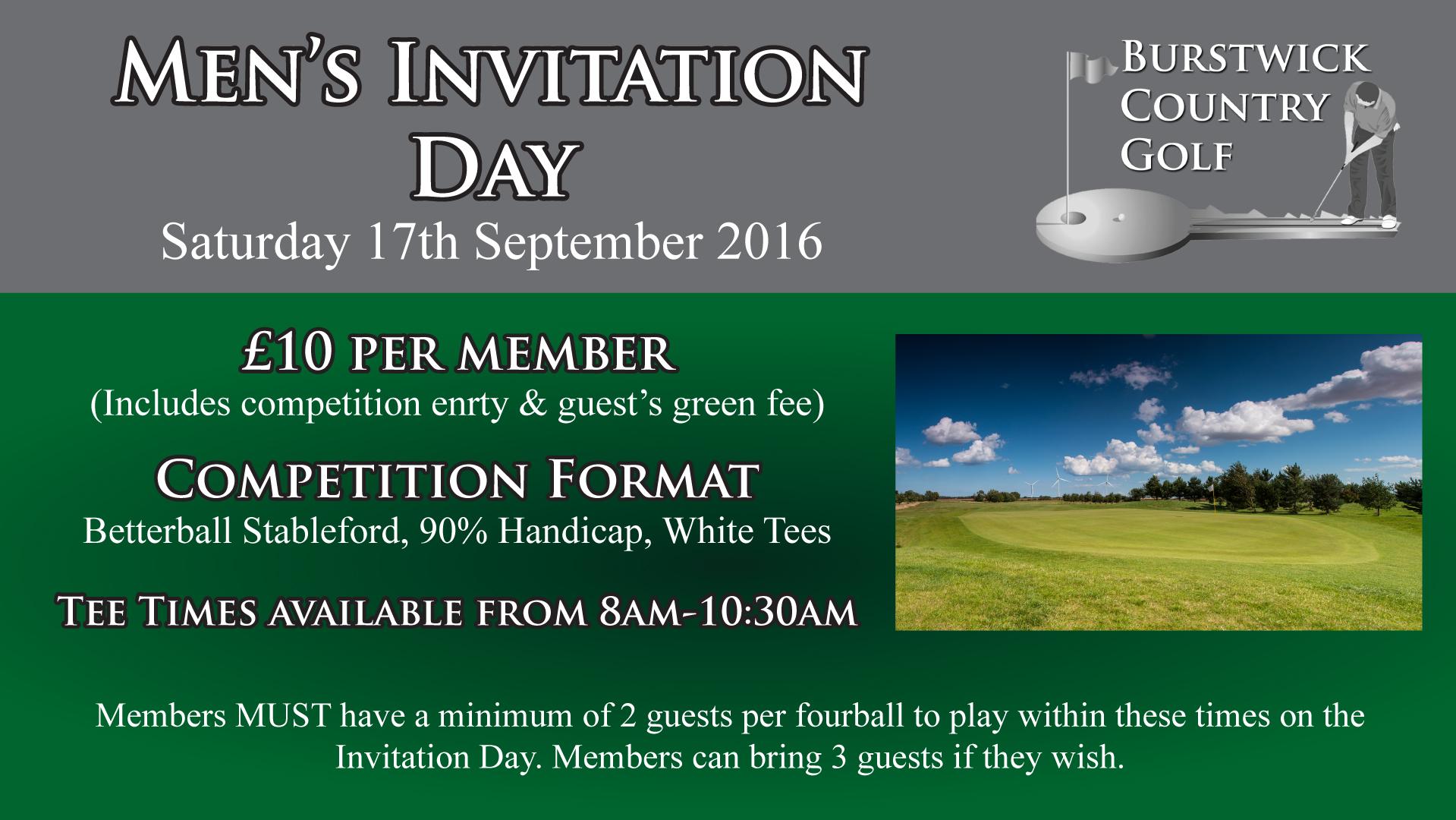 Men's Invitation Day at Burstwick, near Hull