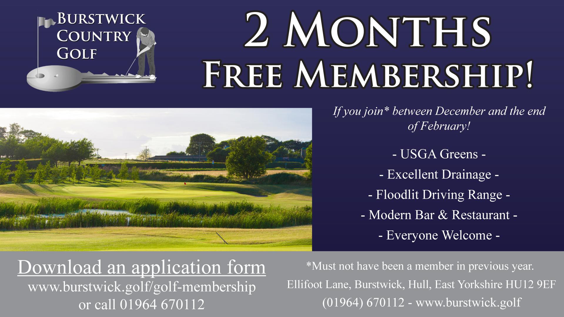 Great value golf membership near Hull, East Yorkshire