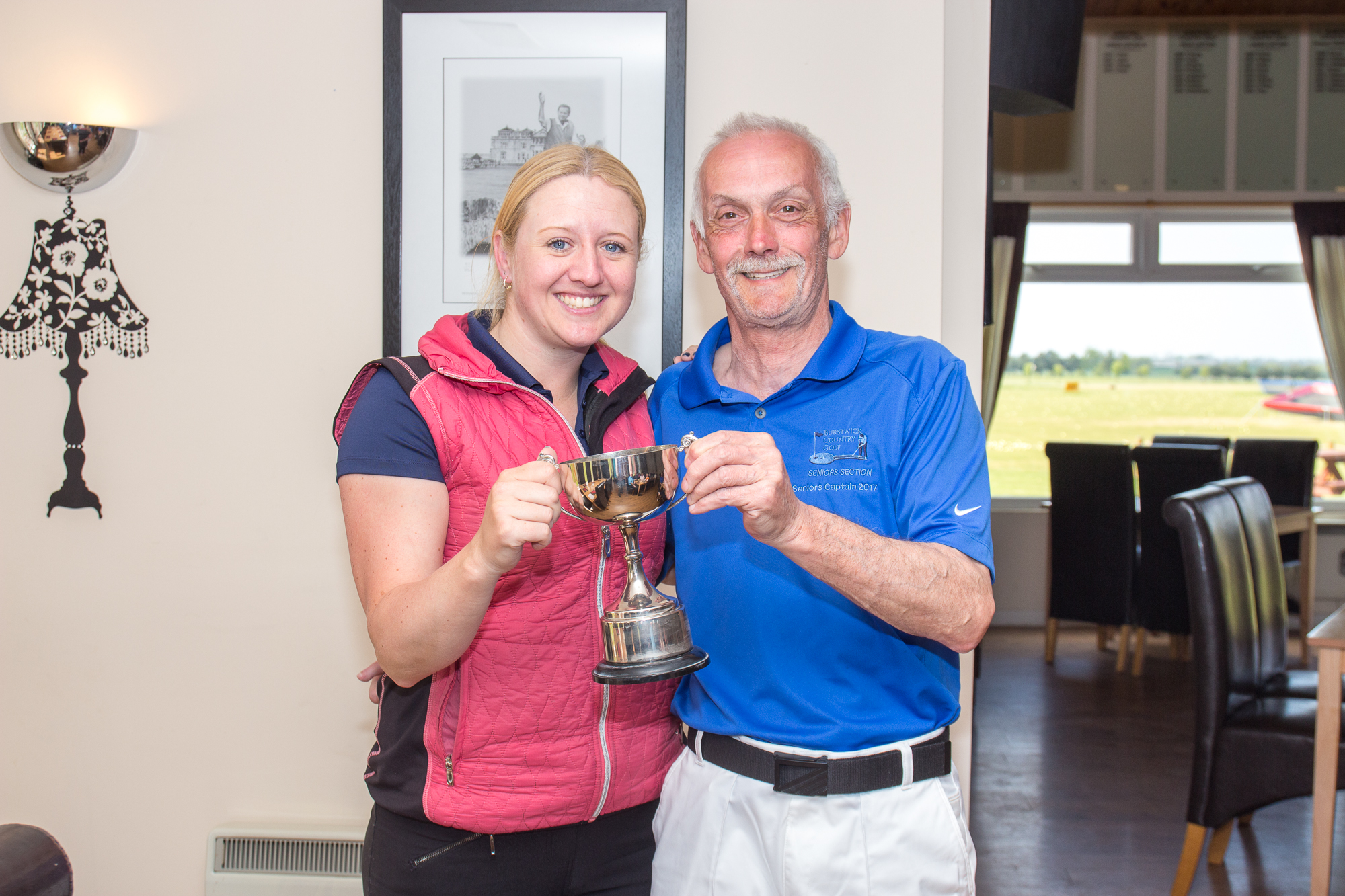 Winners Laura Key and Andy Steward