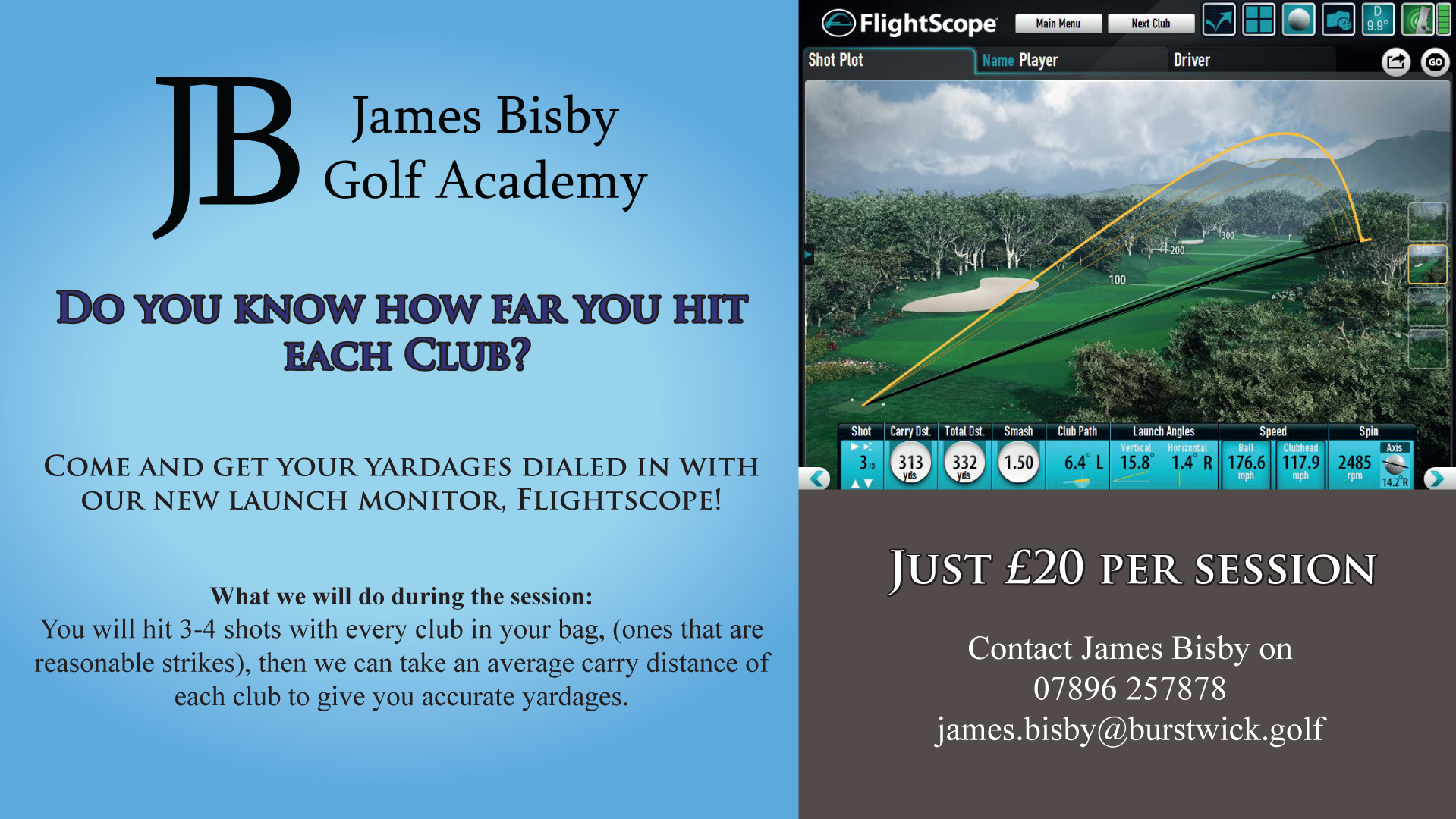 Flightscope yardages