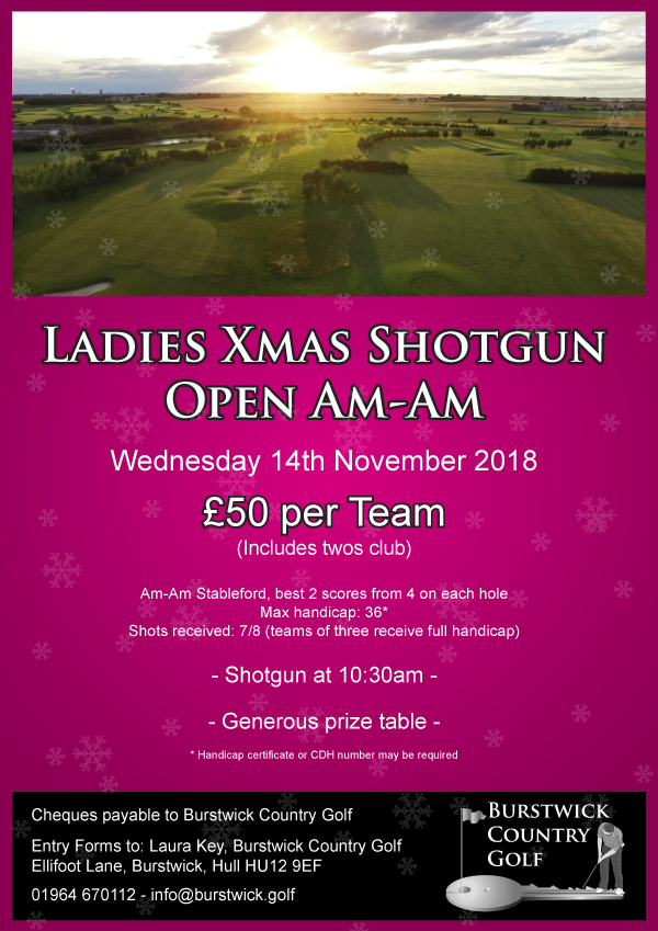 Ladies Xmas Shotgun Open Am-Am
