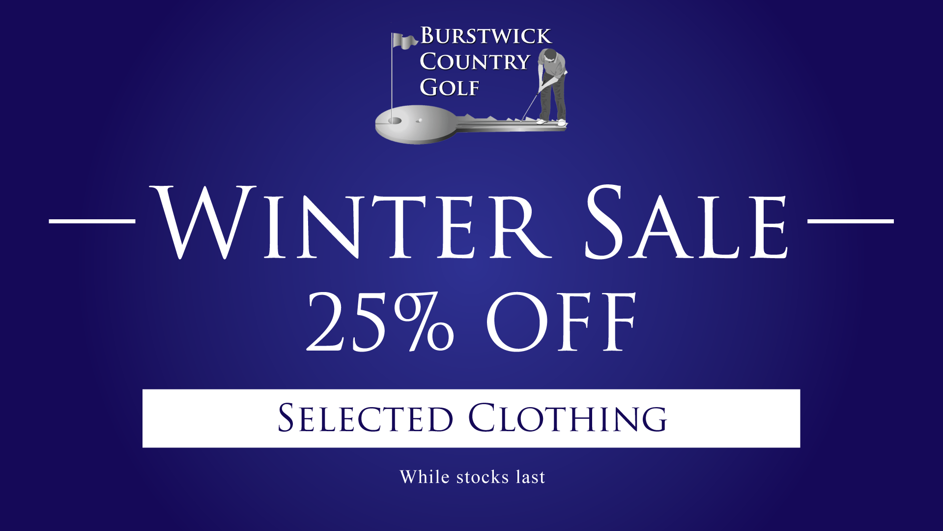 Winter Golf Pro Shop Sale