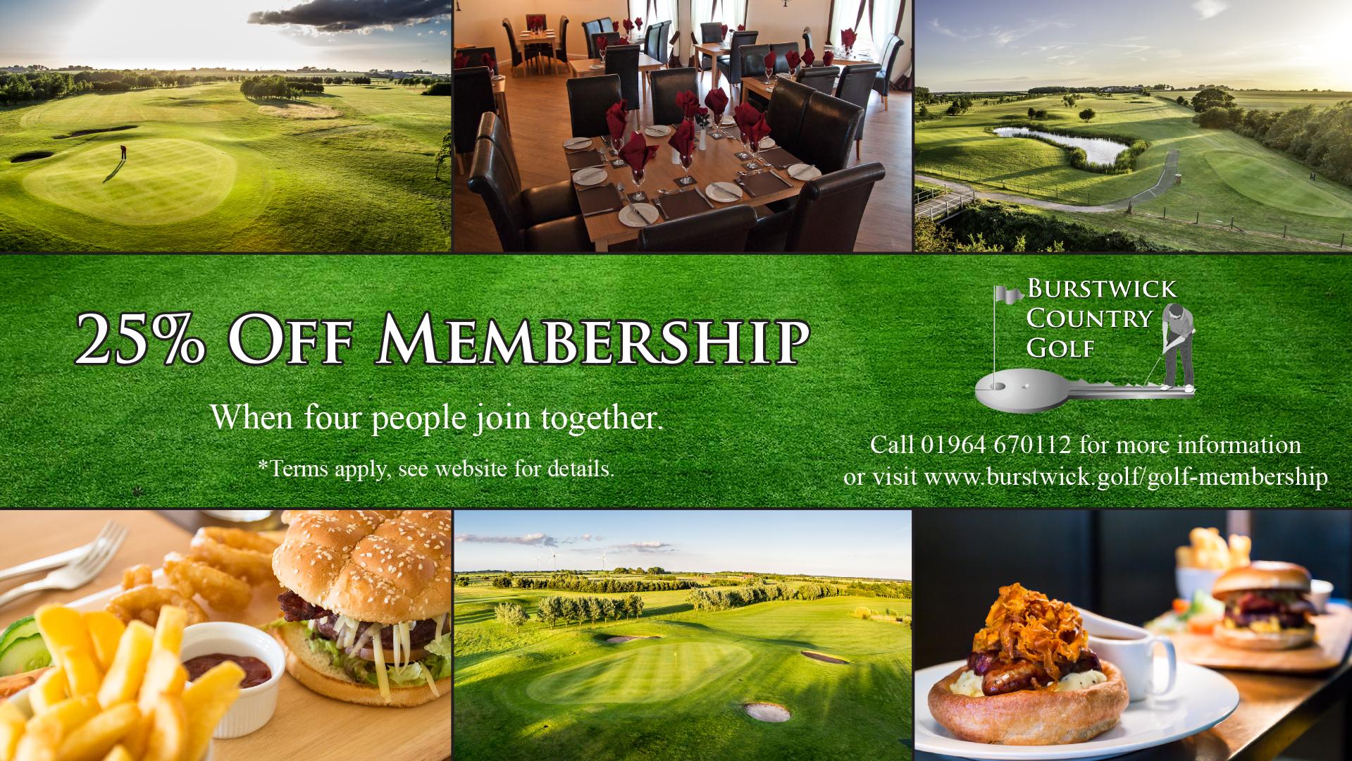 25% Off Membership 4 for 3 offer