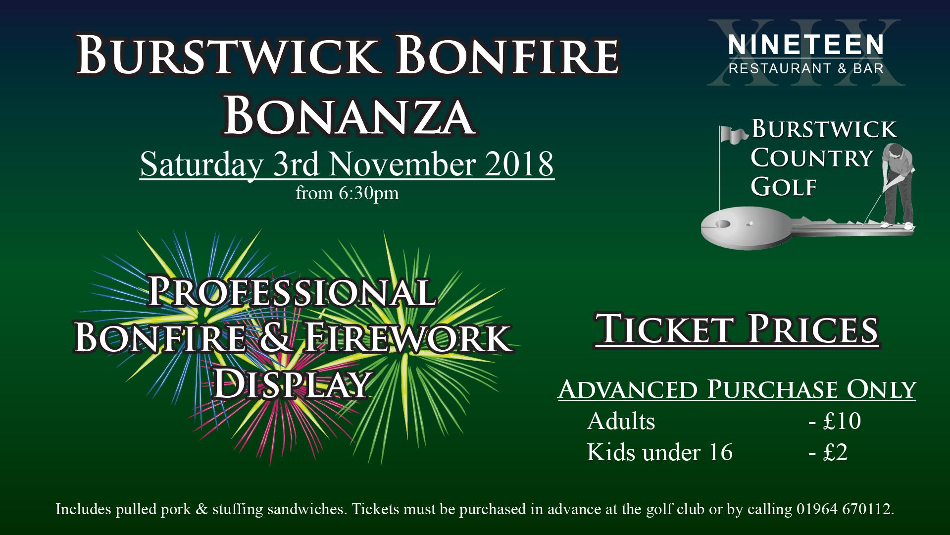Bonfire Night and Fireworks Display near Hull