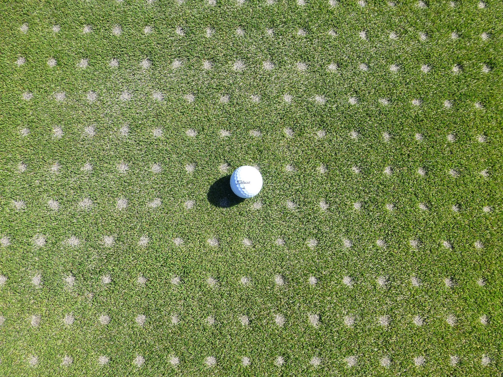Hollow coring the greens
