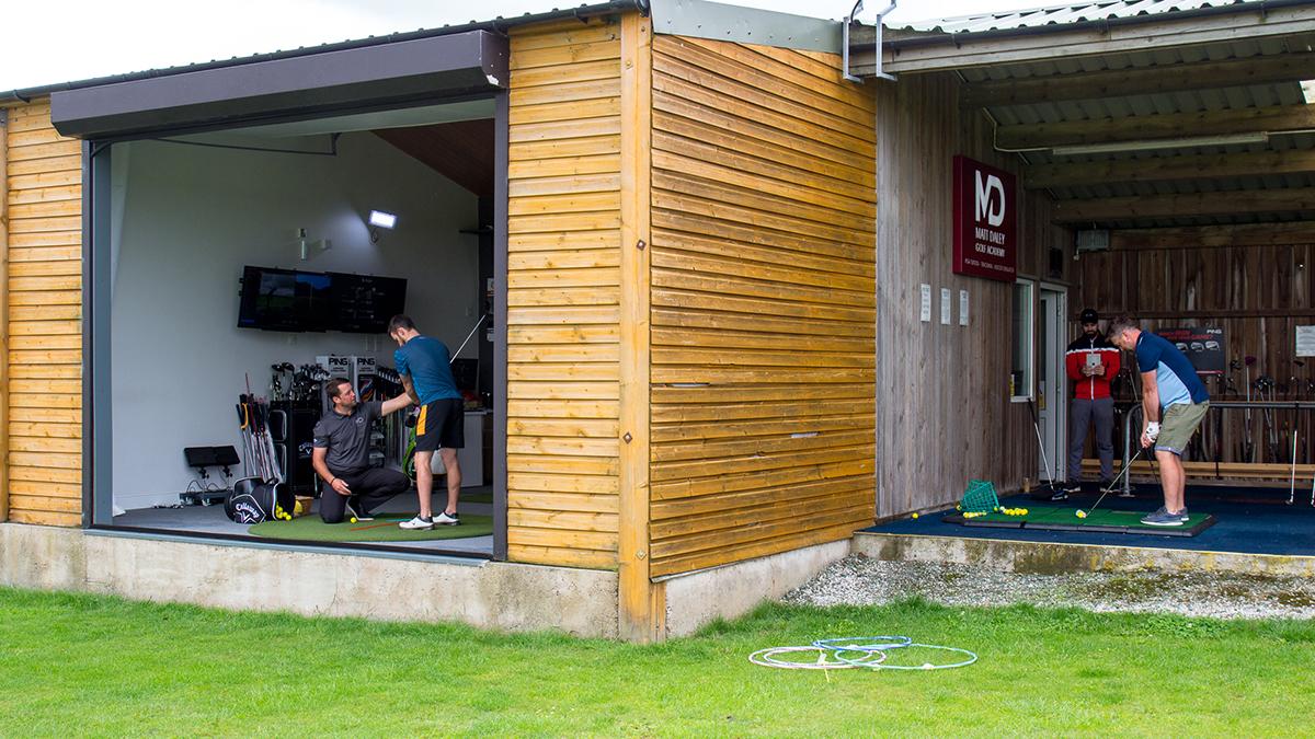 Matt Daley & Laurence Warne coaching at the Matt Daley Golf Academy