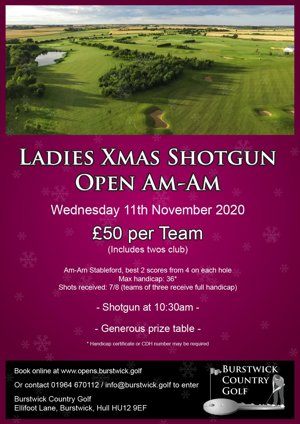 Ladies Xmas Shotgun Open Am-Am
