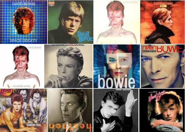 David Bowie Album Covers