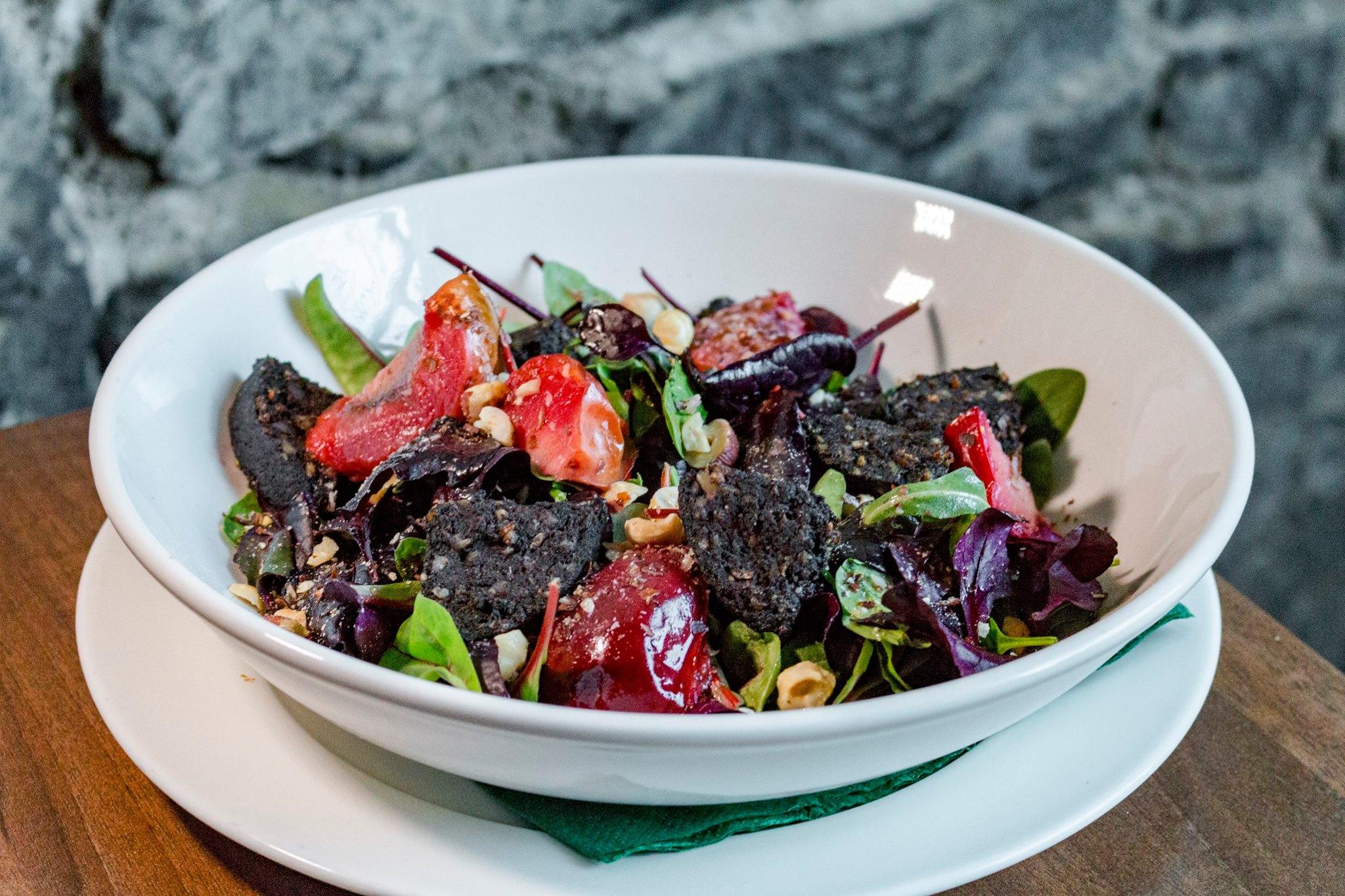 Black pudding and plum salad.jpg