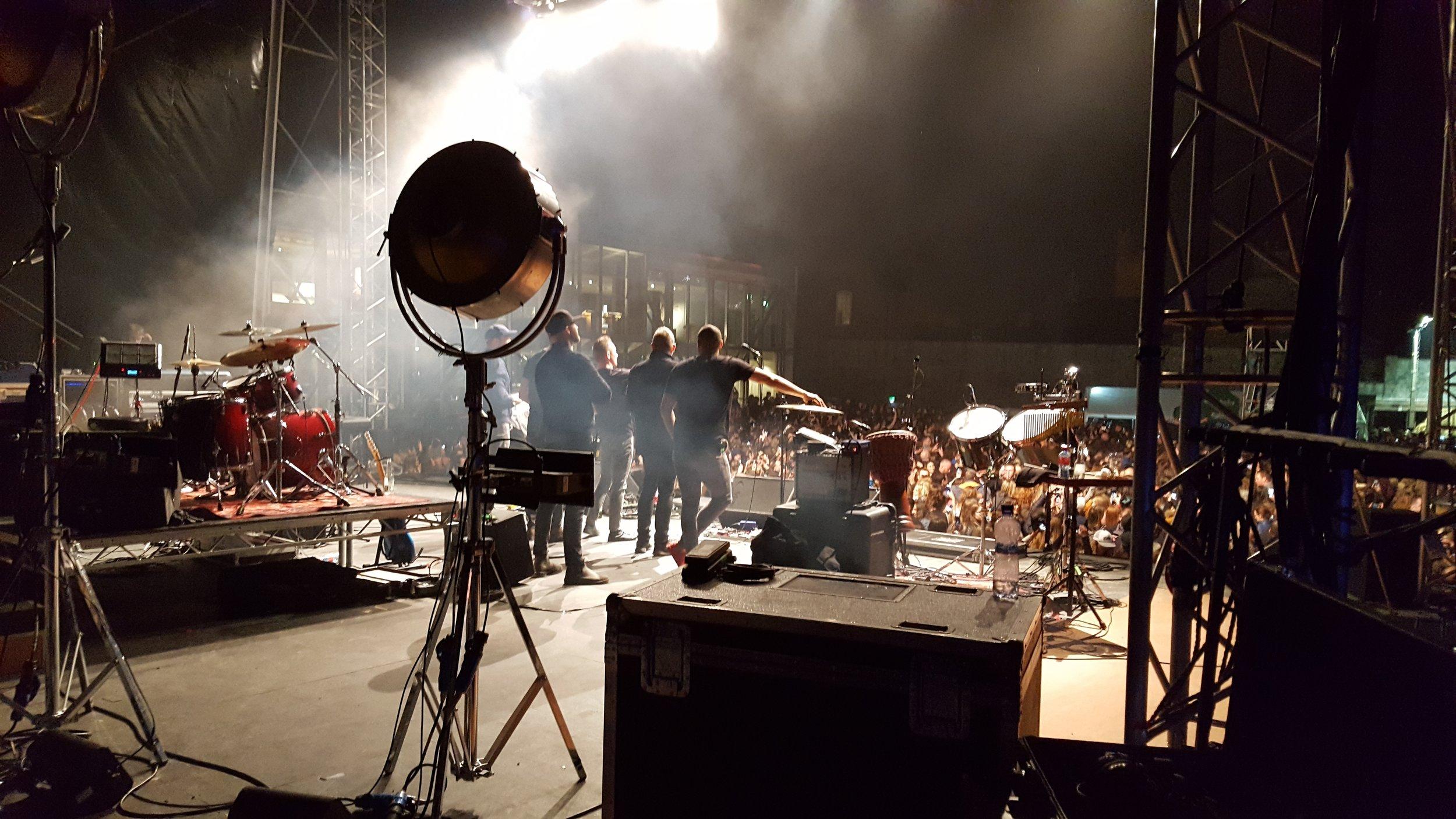 Back stage live at the castle.jpg