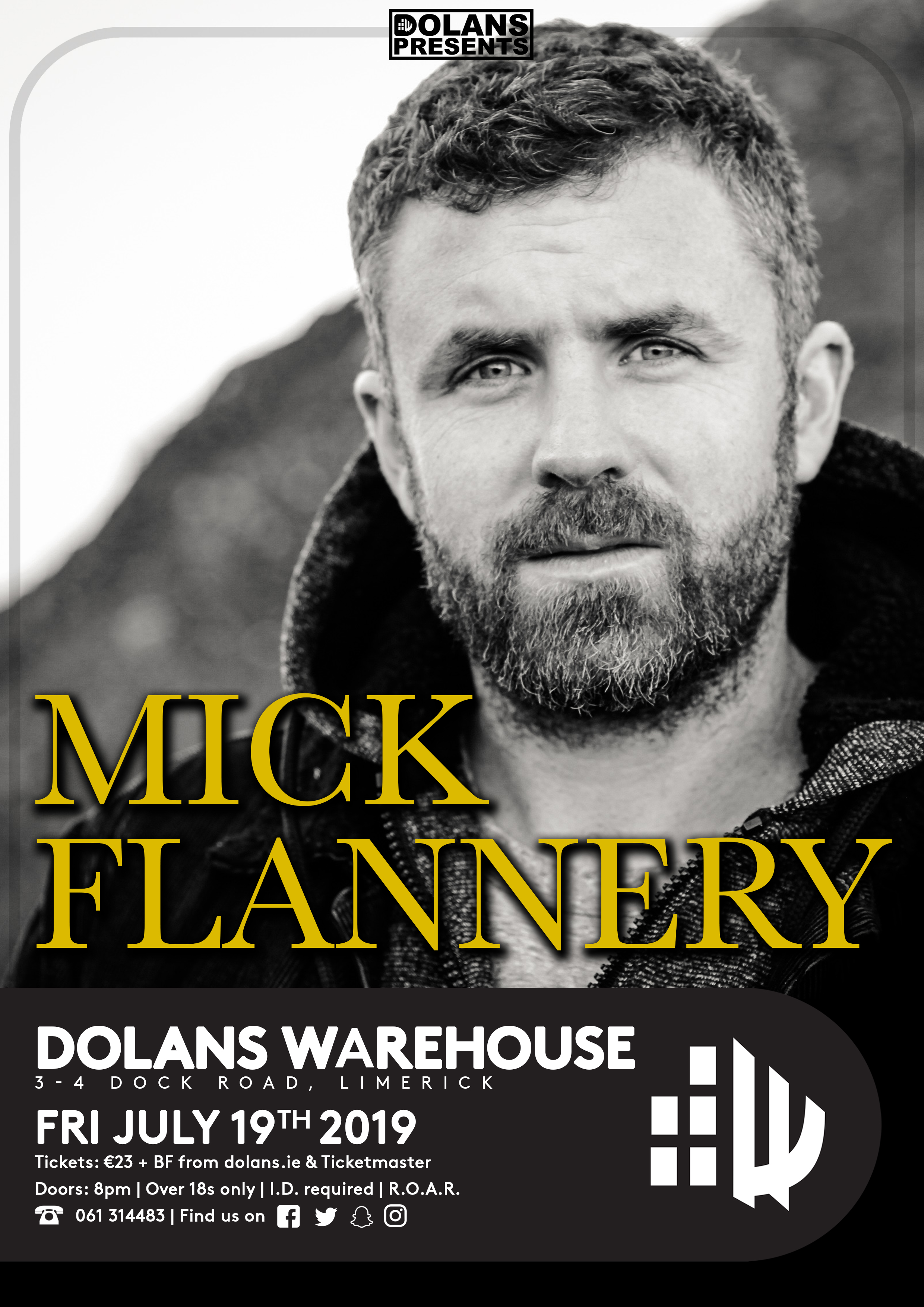 Mick Flannery Dolans Limerick July 19th