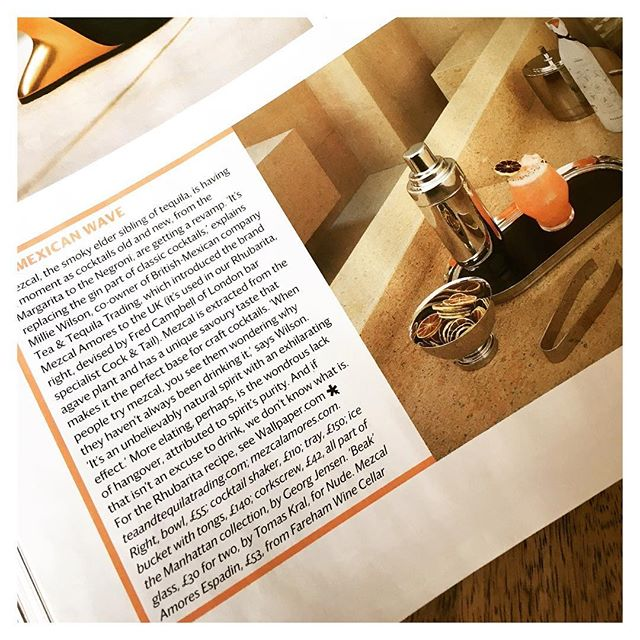 🌵🔍🇲🇽☝🏼😛☝🏼🇲🇽🔍🍸🌵 • Epic lil write up in @wallpapermag this month showcasing one of our Mezcal Rhubarb concoctions. Thanks to @tea_and_tequila_trading for getting us on board 🤜🏽🌵🍌🍉 • • #cocktail #cocktails #mixology #monday #trends #mezcal #mexico #margarita #tequila #fresh #ingredients #delicious #drinks #wallpapermag #design #fashion #fashionweek #londonfashionweek #party #cocktails #events