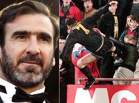 Much like Pecorino, Eric Cantona can trace his roots to Sardinia. However unlike Pecorino, Eric Cantona karate kicks people in the face.