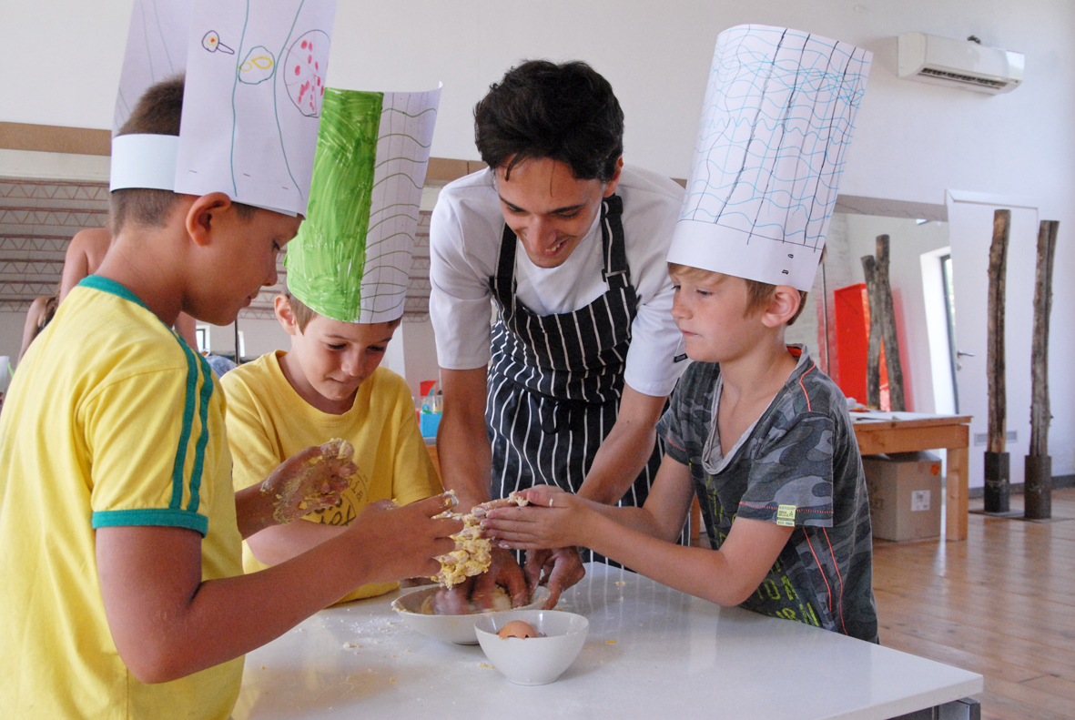 cooking lesson, fun, italy, kids,