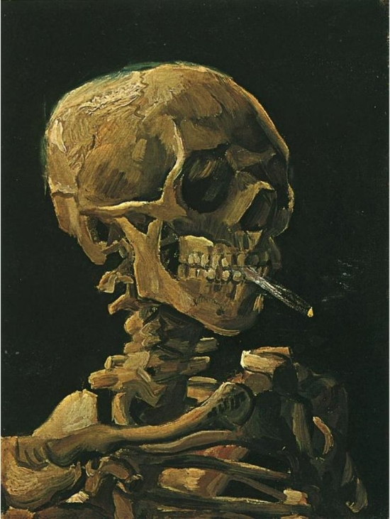 Skull-with-Burning-Cigarette