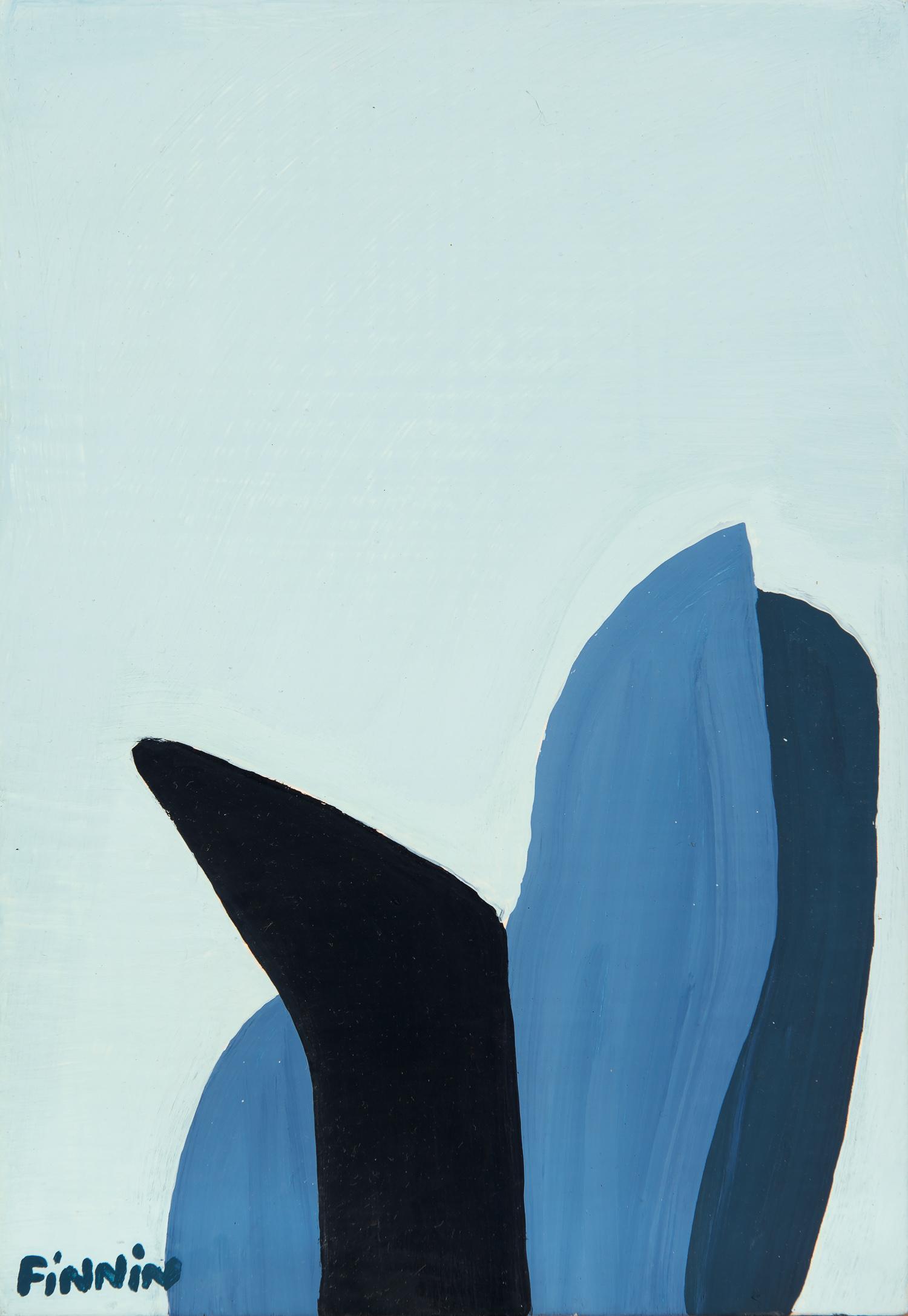 Metal Shape on Sky Blue  |   oil on linen on board | 30 x 20 cm