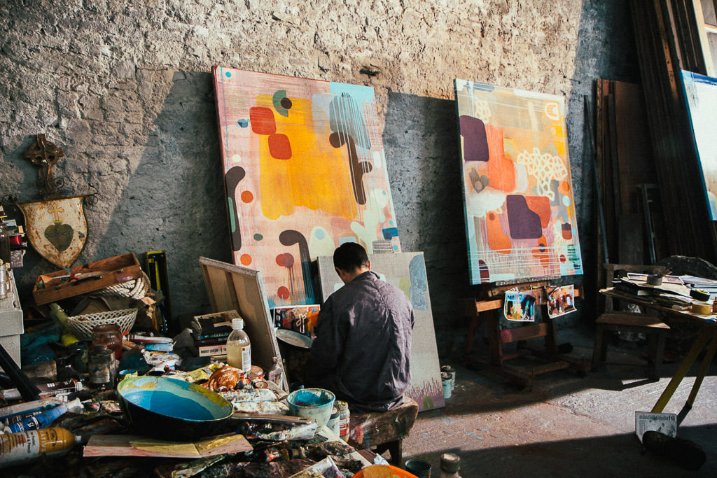 Finnin Art Abstract Painting London Gallery Mayfair