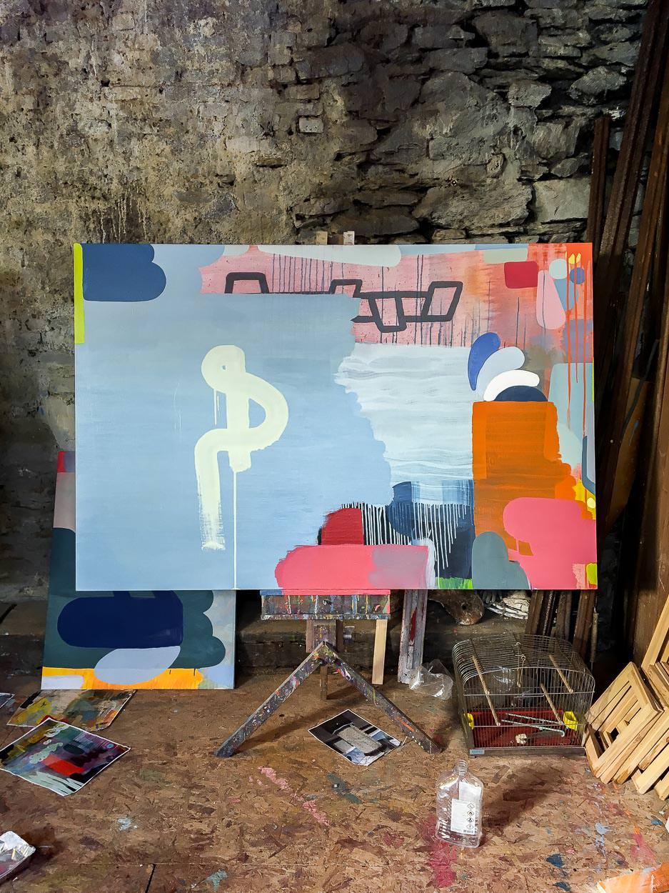 Artist Studio Martin Finnin   Oil on Canvas in progress