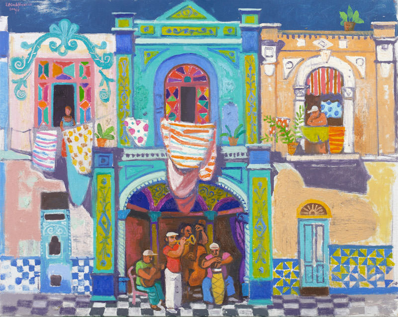 Morrocco | Los Músicos | 2006 & 2017 | oil on canvas | 62 x 67 cm