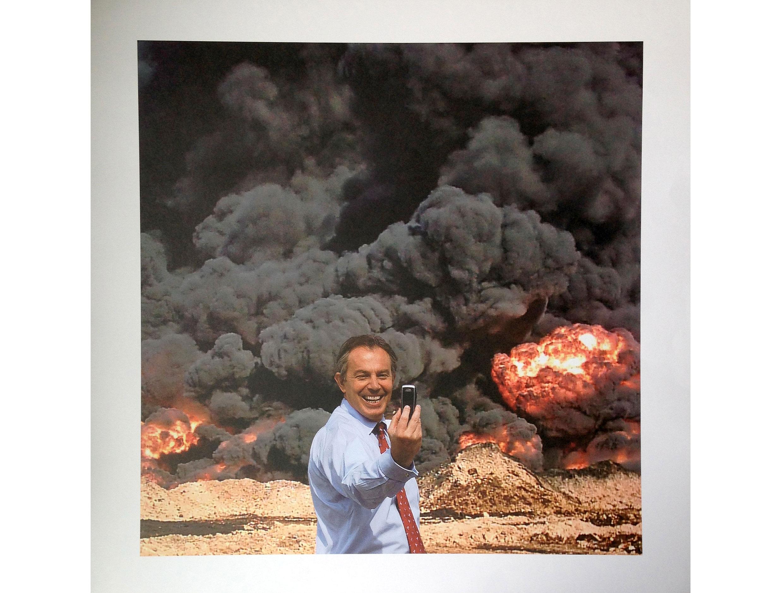 Peter Kennard - Blair Selfie