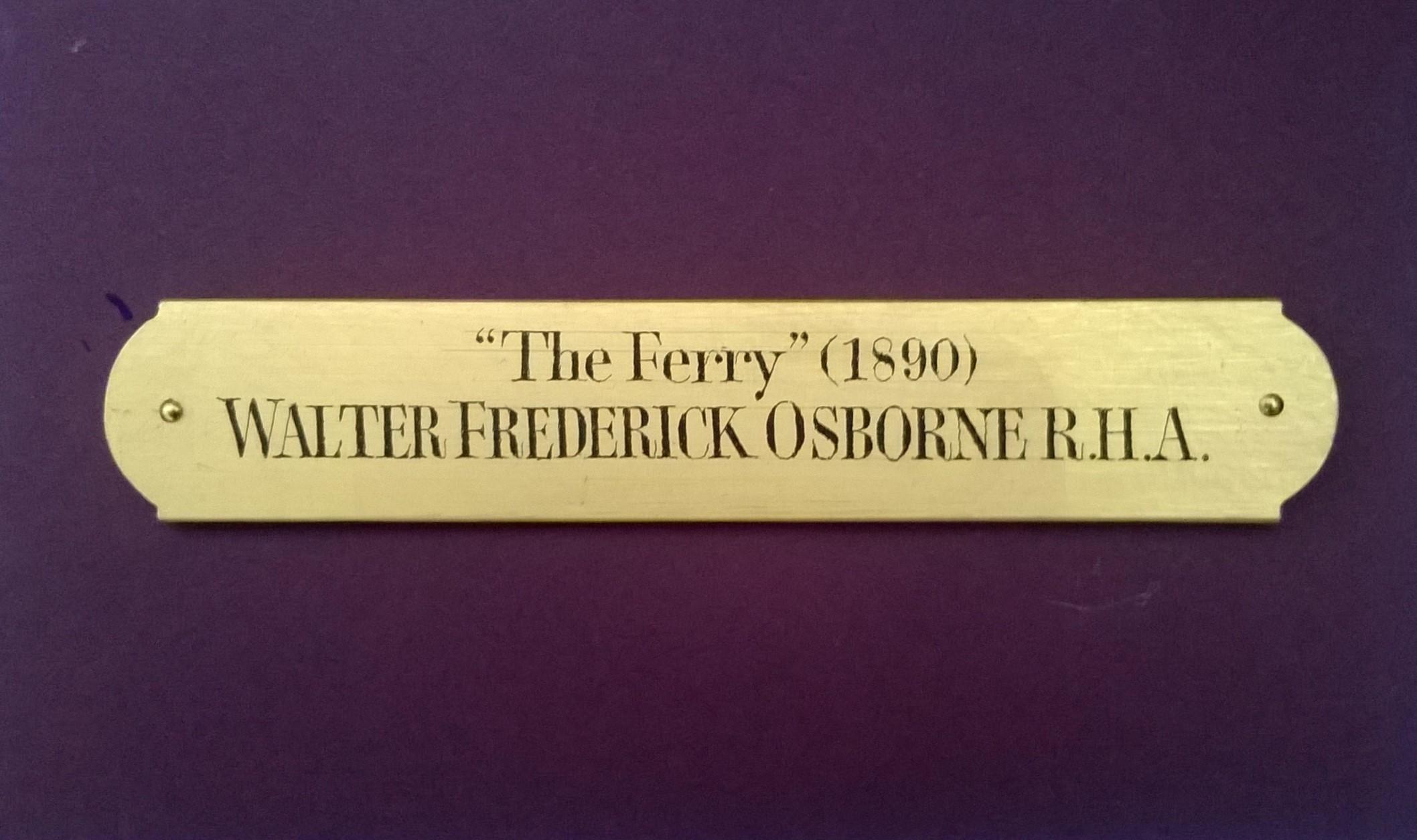 "Walter Frederick Osborne, 3/4"" x 5"", with brass pins"