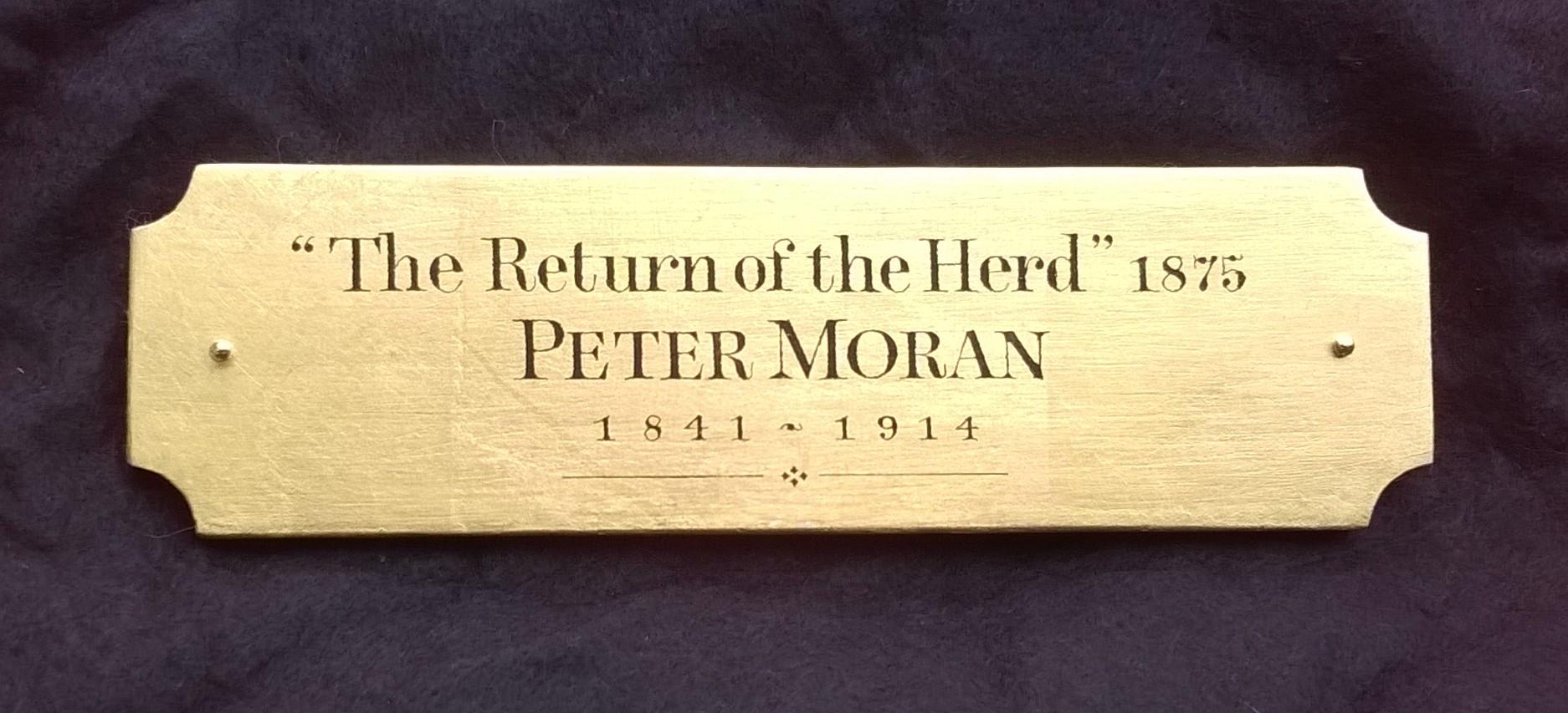 "Peter Moran, 'The Return of the Herd', 2.5"" x 8"""