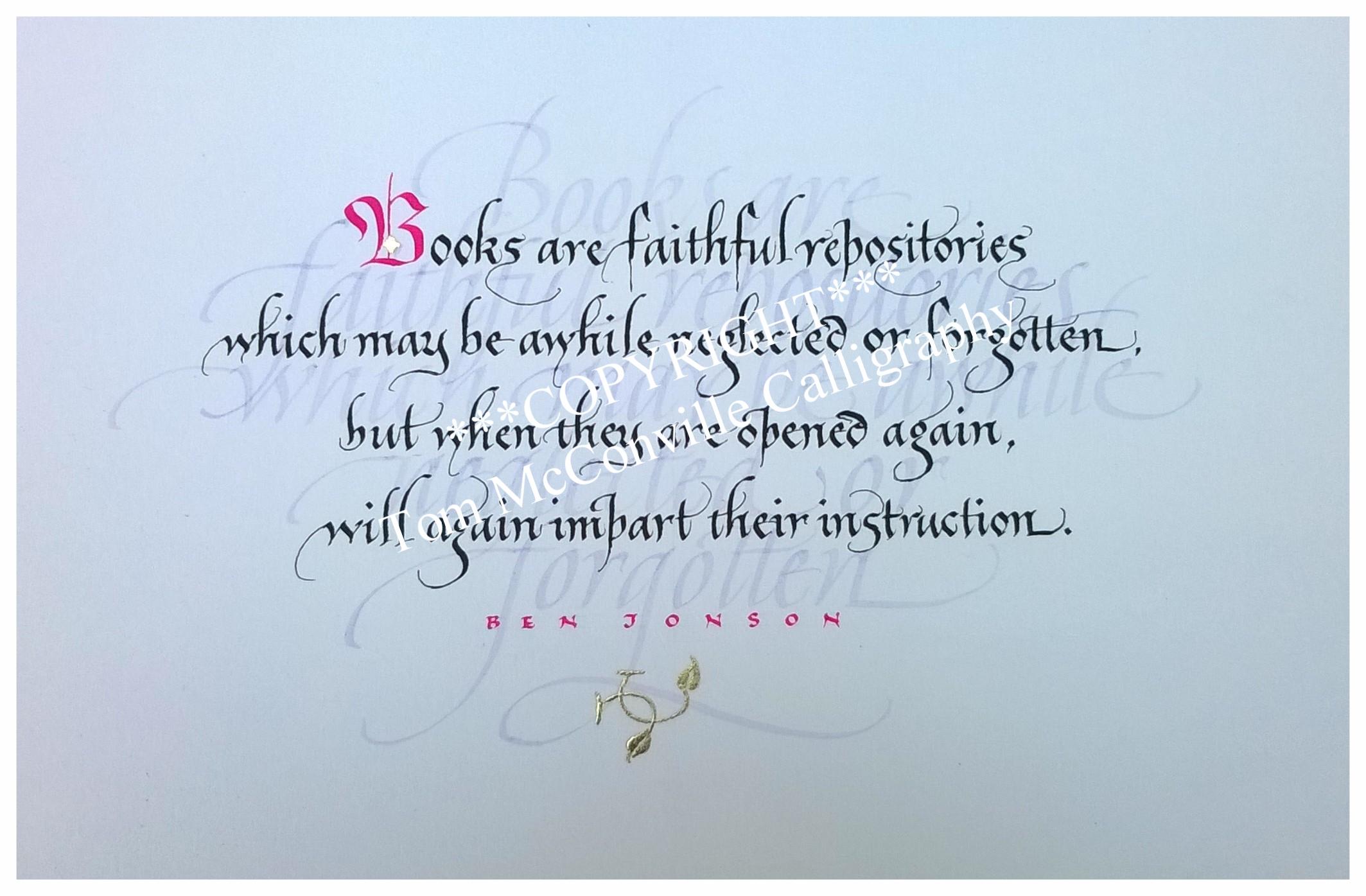 'Books are faithful repositories...' by Ben Jonson
