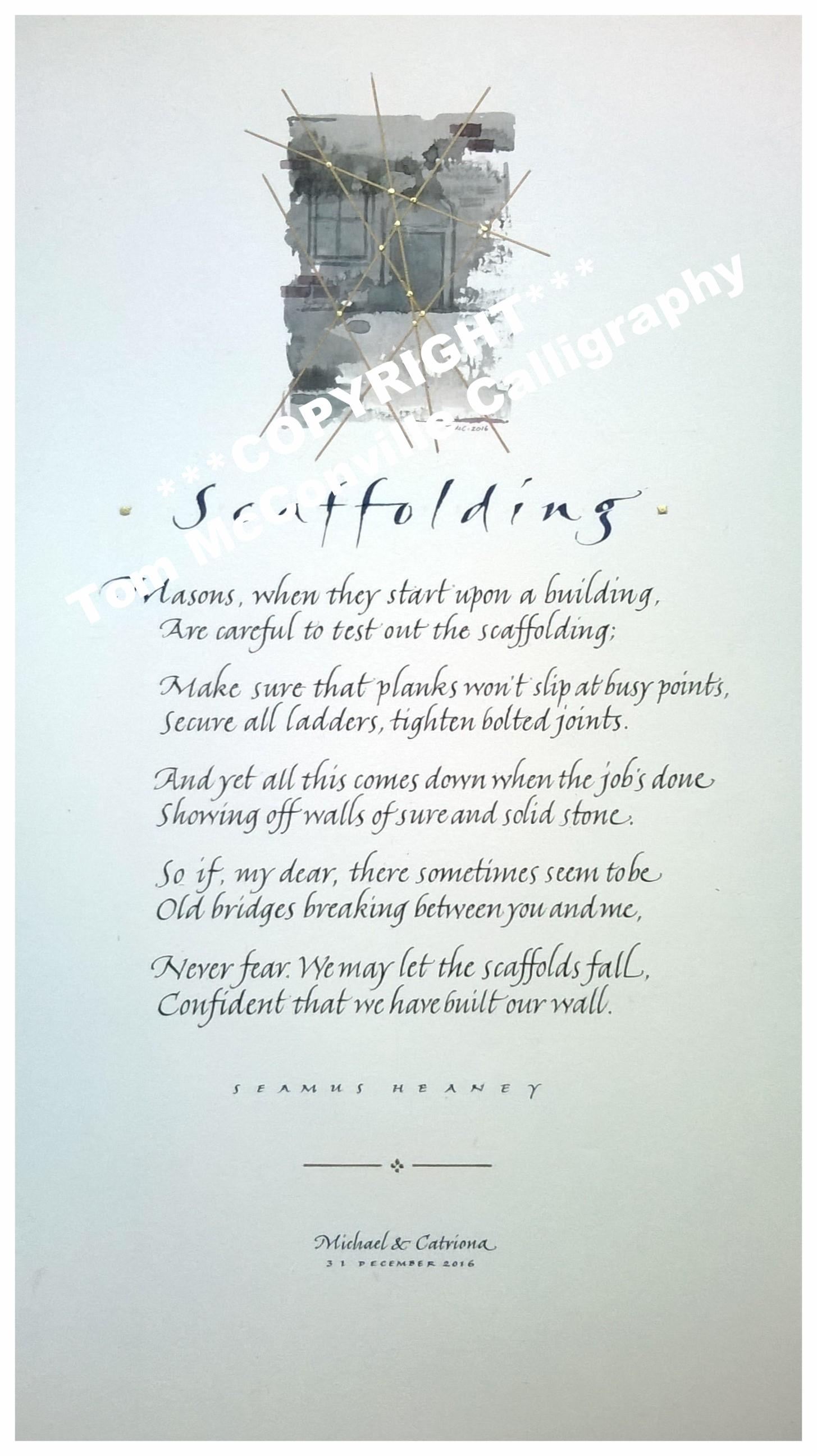 'Scaffolding' by Seamus Heaney