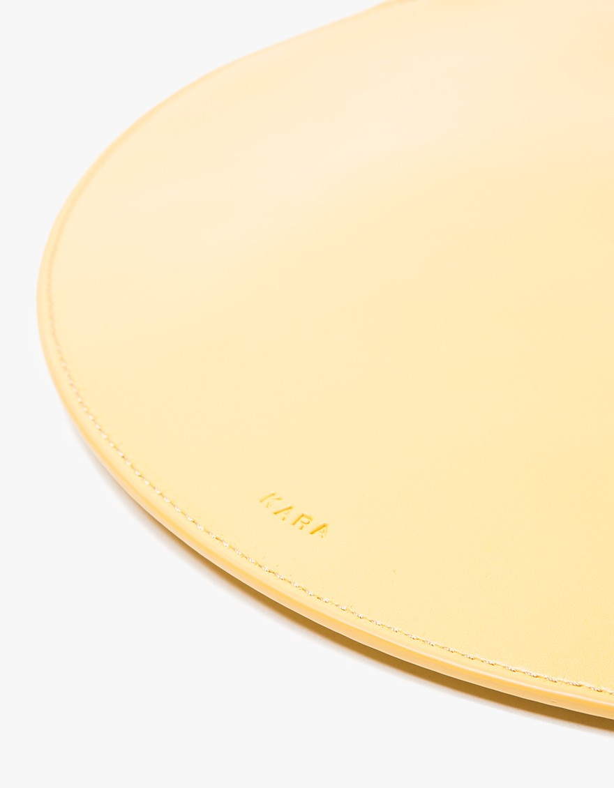 say hi to_ Kara Gold Circle Clutch