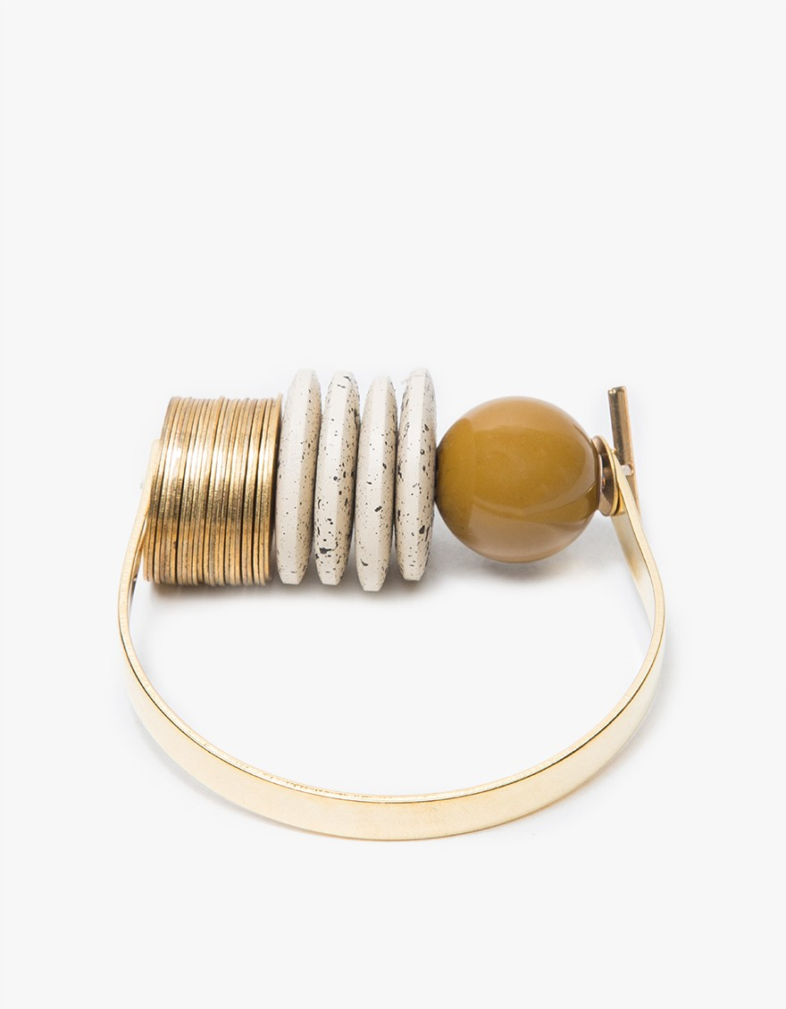 say hi to_ sayhito_ Maslo Jewelry Baseline Bracelet Moss
