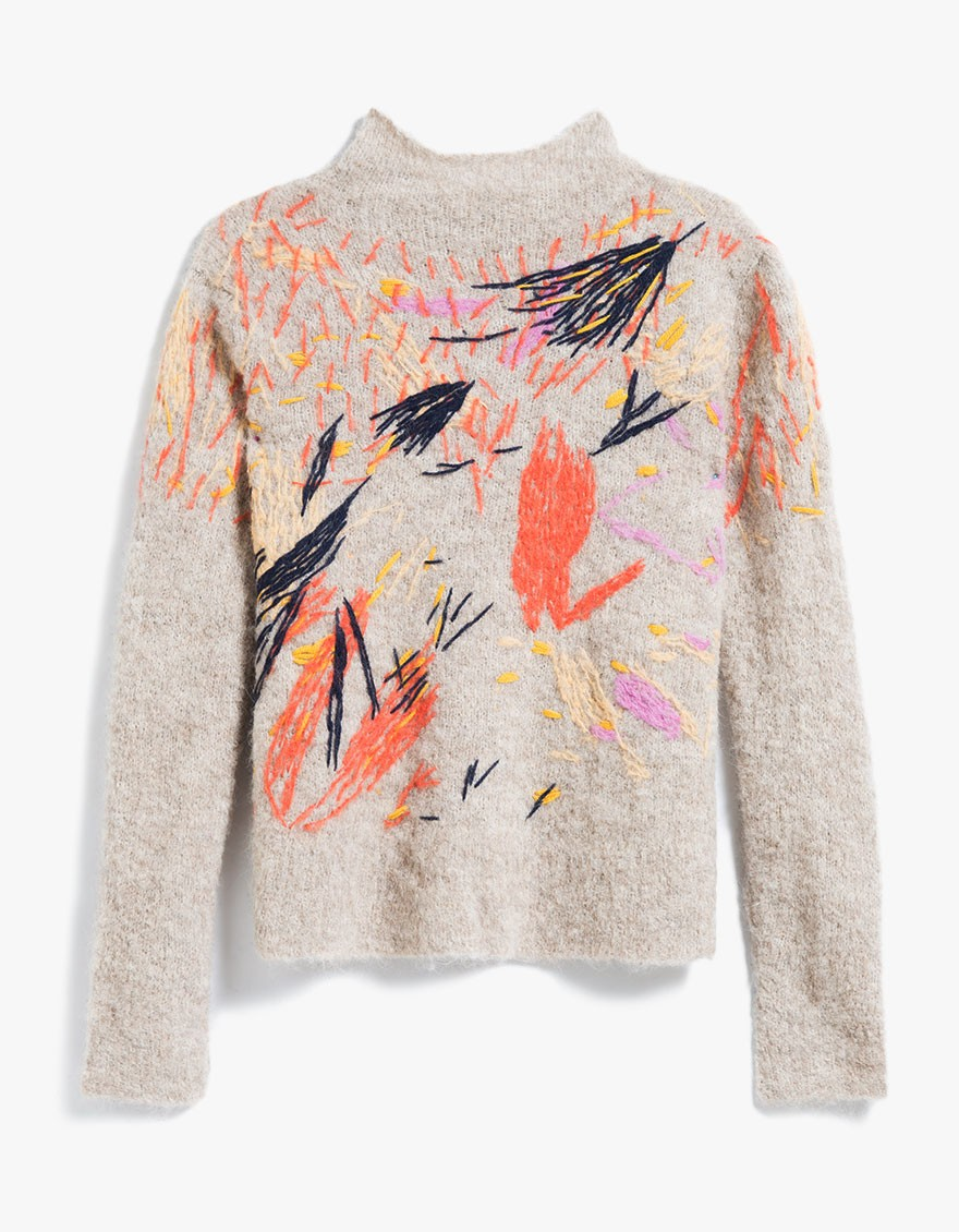 say hi to_ Rachel Comey Funnel Neck Pullover